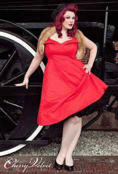 Cherry Velvet -- more at --> http://pinup-fashion.de/8648/cherry-velvet-sexy-ubergrossen/
