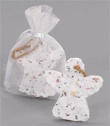 Christmas Baby Shower Favors - Angel Plantable Ornament Favor with Organza Bag $3.50