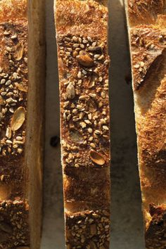 Seeded Rye Loaf-Dark and deeply flavored from a rye sourdough starter that's made 10 days in advance, this earthy loaf is easily customizable depending on what seeds and grains you have on hand and want to add to the dough. Sourdough Recipes, Loaf Recipes, Rye Bread, Bread Rolls, Yeast Bread, Rye Sourdough Starter, Mango Bread, Muffins, Best Bread Recipe
