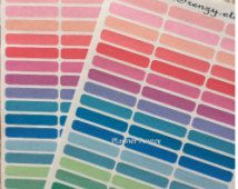 96 Itty Bitty Blank Label Stickers! A perfect fit for any Planner or Calendar! Erin Condren, Plum Paper, Calendar, Scrapbook! SB104