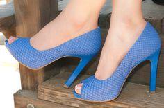 Bruna pump in blue - www.sofia-z.com #heels #shoes #alldaycomfort #Spring15