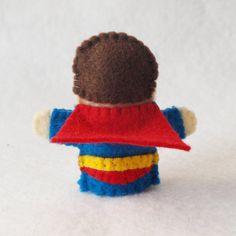 Pattern felt finger puppet pattern superhero by KRFingerPuppets