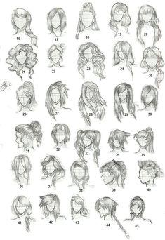 haar tekenen Hairstyles 2 by on deviantART in 2020 Girl Hair Drawing, Guy Drawing, Drawing People, Drawing Tips, Drawing Faces, Drawing Tutorials, Art Reference Poses, Drawing Reference, Design Reference