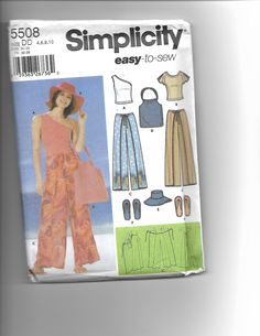 SIMPLICITY 5508 easy to sew by CraftingMoose on Etsy