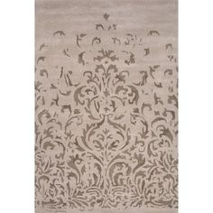 JaipurLiving Timeless By Jennifer Adams Wool Hand Tufted Ivory/Gray Area Rug Rug Size: