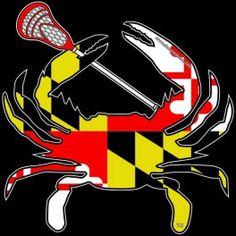 Shore Redneck Maryland Lacrosse Crab Decal