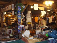 Shopping at a museum along Route 66, USA