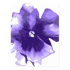 Purple Pansy Watercolour Flower Postcard - purple floral style gifts flower flowers diy customize unique