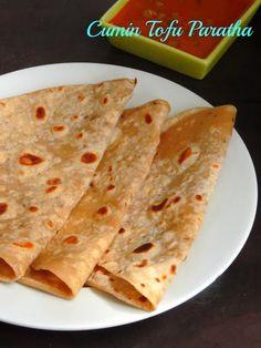 Cumin Flavored Tofu Paratha
