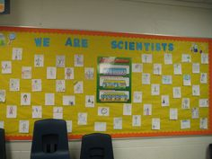 We are scientists!  Bulletin Board   (students draw pictures of themselves as scientists during everyday life situations)