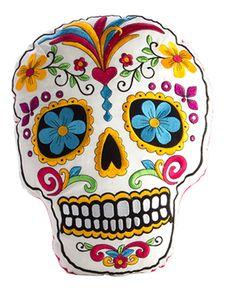White Sugar Skull Cushion - Tragic Beautiful buy online from Australia