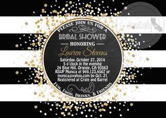 Great Gatsby Bridal Shower Invitation Printable by socalcrafty
