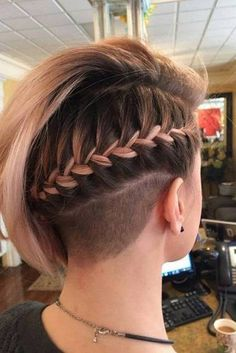 Cute Easy Hairstyles for Short Hair to Try This Season ★ See more: http://lovehairstyles.com/cute-easy-hairstyles-for-short-hair/ #braidsforshorthair