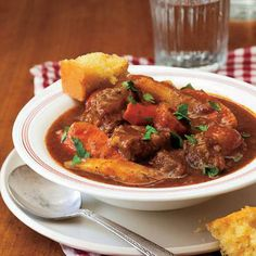 Soup and stew recipes: Beef Stew and Cornbread