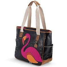 Flamingo Coated Canvas Tote