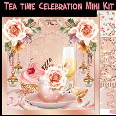 Tea time Celebration Mini Kit by Tanya Hall Tea time Celebration Mini Kit  You get: Main card topper Insert Sentiments Elements Box