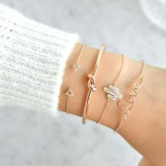 Love Rose Gold Jonc Bracelet