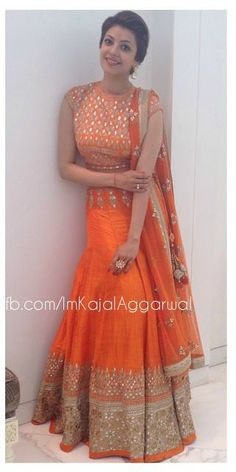 Kajal Agarawal Anarkali Dress, Lehenga, Cloth Flowers, South Actress, Indian Suits, Matching Family Outfits, Indian Ethnic Wear, Indian Designer Wear, Bollywood Actress