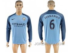 http://www.jordanaj.com/manchester-city-6-fernando-home-long-sleeves-soccer-club-jersey.html MANCHESTER CITY #6 FERNANDO HOME LONG SLEEVES SOCCER CLUB JERSEY Only $20.00 , Free Shipping!