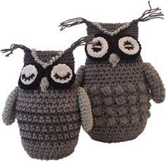 OWL CROCHET PATTERN Een uil haken, crochet an owl. Free pattern written in Dutch, but try Google translate to help you.
