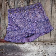 Tribal Belly dance Summer layer skirt!  MERMAIDS LABYRINTH Ruffle Skirt: Silver Tribal