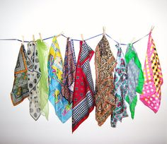 Vintage Scarf Collection by CheekyVintageCloset on Etsy, $28.50