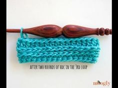 """Have you ever read instructions telling you to half double crochet in the """"third loop?"""" Here's how to crochet in the third loop of the half double crochet!"""