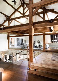 Une ferme àvivre Photographie d'architecture d'intérieur. Ferme ré-aménagée