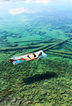 Crystal Clear Water of Flathead Lake in Montana, USA