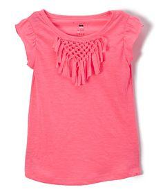Neon Pink Sleeveless Tee - Toddler