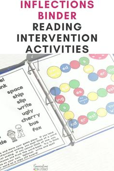 Endings and Inflection s, es, ed, ing Activities using anchor charts and other decoding and phonics activities to help elementary students break apart and read words. This reading intervention binder also helps with spelling! #readinginterventions #phonics #guidedreading #decoding #anchorcharts #conversationsinliteracy, first grade, second grade, third grade
