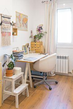 Anna's studio, with plenty of natural light.