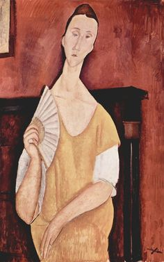 How $100 Million in Stolen Paintings by Picasso and Matisse May Have Ended Up at the Dump.  (Shown) Amedeo Modigliani, La Femme a l'Eventail (Woman with a Fan), 1919.
