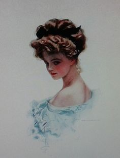 Evelyn Nesbit-Cosmo Girl. Scott Thompson, Crime Of The Century, Evelyn Nesbit, Cosmo Girl, Belle Epoch, Gibson Girl, Vintage Glamour, Showgirls, Face Art