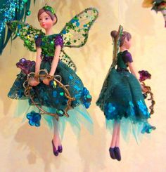 Gisela Graham Christmas Fairy Tree Decoration - Adorable Peacock Fairy [Set of 2] | Play Learn Grow