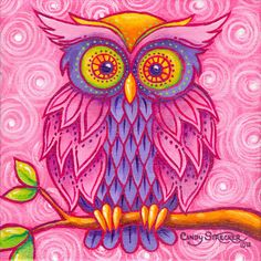 'Owl in Pink' by Cindy Strecker