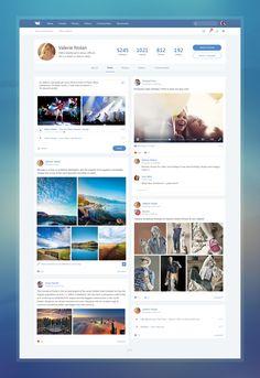 Концепты: редизайн веб-версии «ВКонтакте» от дизайнеров со всего мира