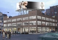 meatpacking district - apple store - love the building -- windows, awning...