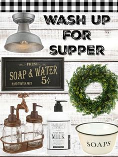 Perfect Farmhouse Style goods for your farmy bathroom! Click here!
