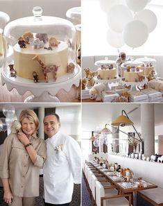 Fiquei encantada com o bom gosto evidente na decoração do almoço em comemoração ao primeiro aniversário de Jude, neta de Martha Stewart, que...