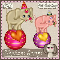 Elephant Script, template also available.