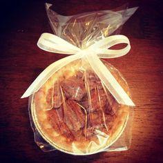 Homemade mini pecan pie favors by Heather Lester Pelham of Emerald Coast Custom Cakes.  www.emeraldcoastcustomcakes.com