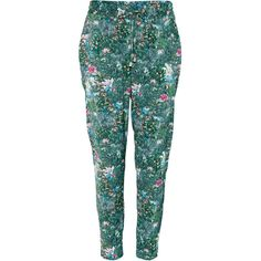 H&M Trousers (£25) ❤ liked on Polyvore featuring pants, trousers, h&m, calças, peg-leg pants, peg leg pants, tapered leg pants, draped pants and print pants