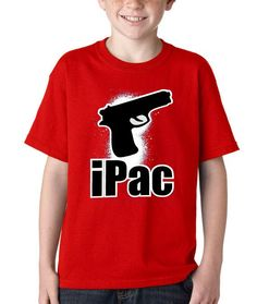 Kids iPac Shirt Printed Youth 2nd Amendment from $10.99 at xpressiontees.ets... | #ExpressionTees