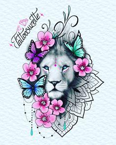 Dope Tattoos, Skull Tattoos, Animal Tattoos, Leo Tattoos, Body Art Tattoos, Hand Tattoos, Mandala Tattoos For Women, Tattoos For Women Flowers, Sleeve Tattoos For Women