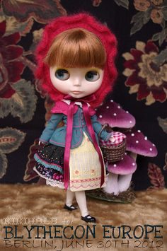 For BlytheCon Europe ≈ Little Red Riding Hood ≈  by kikihalb, via Flickr