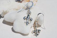 Fleur de Lis Earrings  Sterling Silver  Fleur by ornatetreasures, $14.99