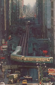 "The ""L""~~Chicago,Illinois, National Geographic June 1967, James L Stanfield"