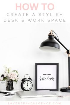 Are you looking for desk accessories for a stylish and organized work space? From a gold trinket dish to a chic desk tray and more, these are the best desk ideas for a blogger/entrepreneur's office! Click through to see the desk accessories now and save t