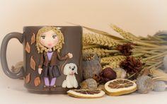 Tazza in ceramica Mug con decorazione realizzata a mano di telasimona su Etsy